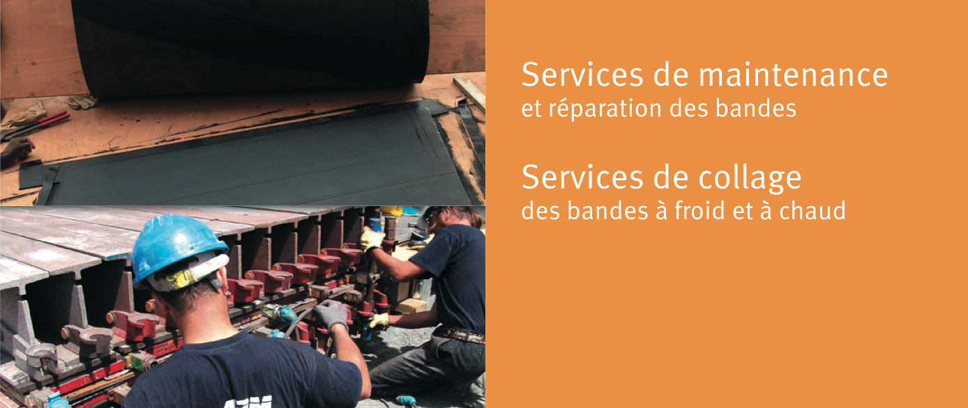 Services de maintenance et de collage